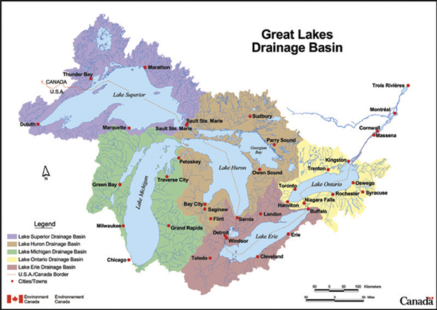 great lakes drainage basin